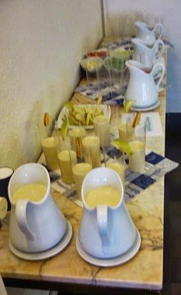 Gazpacho de manzana y piñones