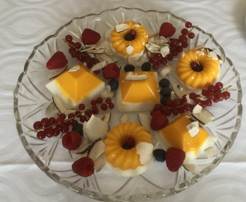 Mus de mango y coco
